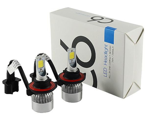 ZHANGAO 7 inch H4 H13 30W 6000K 8000LM HID Hi//Lo Beam LED Headlight Lamp For Harley Jeep Decorative lights